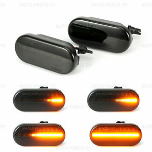 2x Sequential Led Side Marker Signal Light For Ford C Max Fiesta Focus Fusion