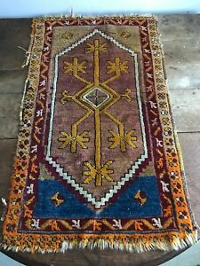 Antique Wool Throw Rug