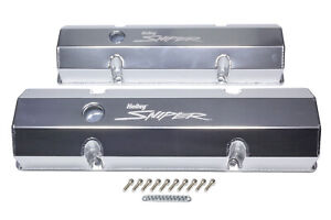 Holley Sniper Fabricated Valve Covers Sbc Tall P N 890010