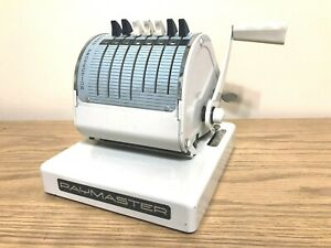 Vintage Rare Paymaster Manual Check Writer Series X 550 With Key Works Great