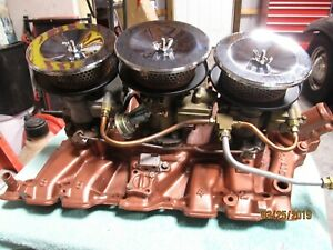 1966 Oldsmobile 442 W 30 Tri Carb Tri Power Intake And Carbs