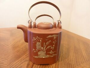Vintage Chinese Yixing Zisha Clay Red Teapot With Cover