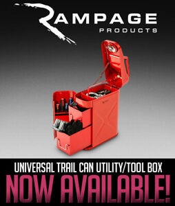 Rampage Universal Trail Can Utility tool Box 86619 Red Free Shipping