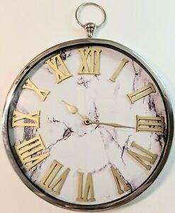 White Marble Style Clock