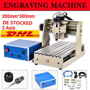 300w 3 Axis Cnc 3020t Router Engraver Engraving Machine Drill Mill Diy Cutter De
