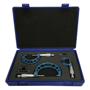 Set Of Outside Micrometer With Standard 0 3 Range 0001 Graduations