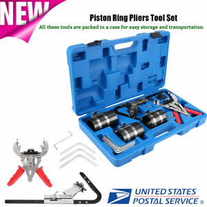 Piston Ring Service Tools Kit Engine Ratchet Cleaning Expander Compressor Us