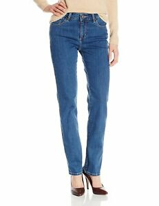 LEE Woman's Instantly Slims Classic Fit Straight Jeans Seattle Size 12M NWT