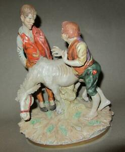 Fantastic Piece Scheibe Alsbach Germany Large Porcelain Figurine Sculpture