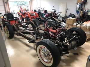 1956 Corvette Rolling Chassis Original With Original Power Glide And 265 Engine