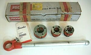 Ridgid Threader Set 00 r Ratchet Head Handle 1 2 3 4 1 Dies