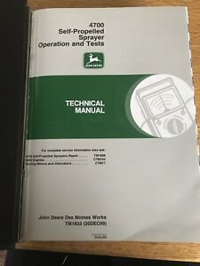 John Deere Self propelled Sprayer Operation And Tests Technical Manual Tm1833