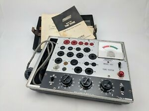 Mercury Tube Tester Model 1101 W Case Manual Tube Chart