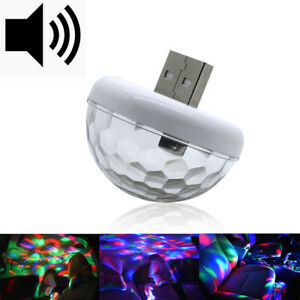 Sound Control Colorful Flexible Mini Car Usb Led Lights Car Atmosphere Light New