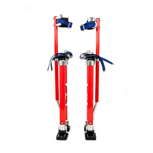 24 40 Inch Drywall Stilts Aluminum Tool Painters Walking Taping Finishing Red