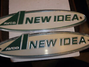 New Idea Corn Picker 011512 Name Plates Used Not Perfect Lot Of Two