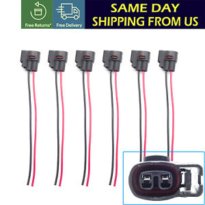 6x Ignition Coil Connector Harness Plug Wire Pigtail For Chrysler Dodge Plymouth