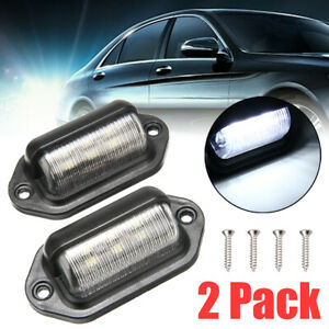 2pcs Universal 6 Led License Plate Tag Lights Lamps For Truck Suv Trailer Van Us