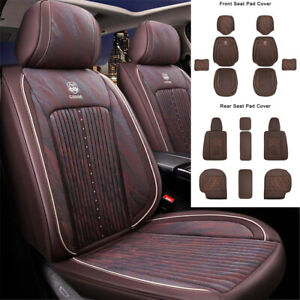Universal Front Rear Car Seat Cover Cushion Pad Protector Bucket Headrest Pillow