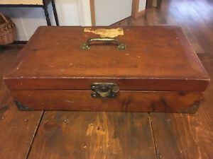 Antique 1800 S Handmade Doctors House Call Medical Case Possibly Military