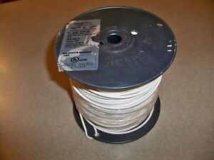 500 14 Awg Gauge White 500 Ft Feet Stranded Wire