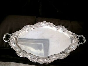 Gorham Sterling Silver Chantilly Grand Waiters Tray Tea Set Serving 3980 Grams