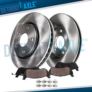 5 Lug Rear Brake Rotors Ceramic Pad For 2002 2014 2015 2016 2017 Dodge Ram 1500