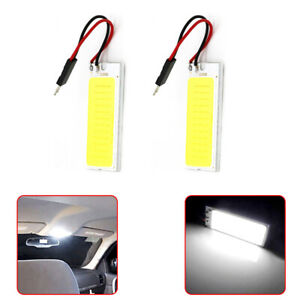 2 Pieces T10 36 Cob Led 12v White Dome Map Light Bulbs Car Interior Panel Light