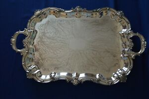 Birmingham Silver Silver On Copper 29 Footed Tray