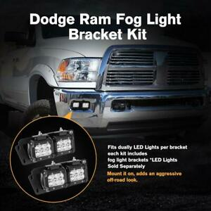 For 10 18 Dodge Ram 2500 3500 4 18w Led Pods Fog Light Lamp Mounts Bracket