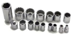16 Piece Craftsman 3 8 1 4 Drive Socket Set 5 32 13 16 Made In Usa Used