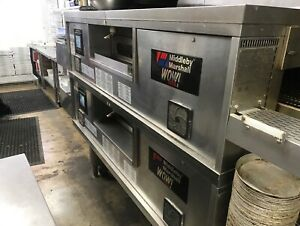 Middleby Marshall Ps670g Wow Double Deck Direct Gas Fired Conveyor Oven
