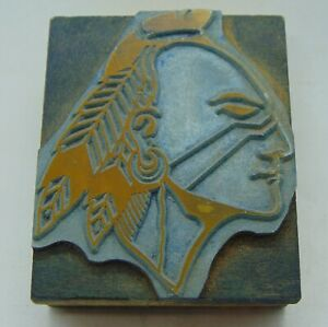 Printing Letterpress Printers Block Historic Dartmouth College Indian