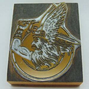 Printing Letterpress Printers Block North Salem Oregon High School Vikings