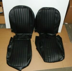 New Front Seat Covers Seat Upholstery For Mgb 1973 1980 Black Vinyl