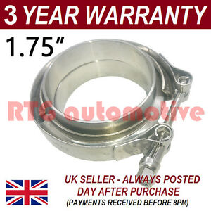 V Band Clamp Flanges Complete Stainless Steel Exhaust Turbo Hose 1 75 45mm