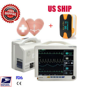 Icu Ccu 6 para Medical Patient Monitor Arrhythmia Analysis Cardiac Monitor Us