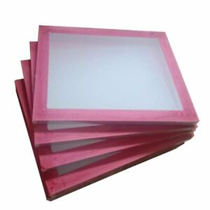 6 Pack 20 X 24 Aluminum Frame With 130 White Mesh Silk Screen Printing Screens