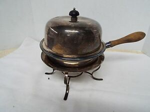 Antique Vintage Silver Plate Chafing Dish 1860 S