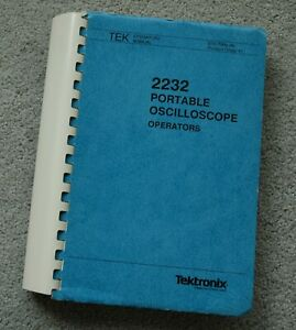Tektronix 2232 Original User Manual Paper Manual Part 070 7066 00