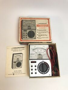 Vintage Radio Shack Micronta 22 202a Multitester With Manual Leads And Box