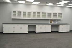 22 Base 17 Wall White Furniture Cabinets Case Work In Stock e1 068