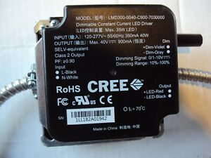 Cree Model Lmd300 0040 c900 7030000 dimmable Constant Current Led Driver