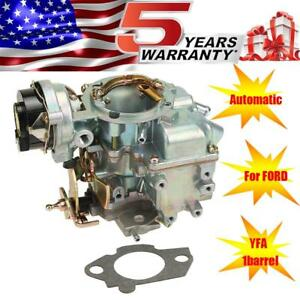 Carburetor Yfa Carter Style 1 Bbl Electric Choke For Ford F150 4 9 300 250 75 85