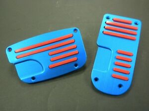 Universal Pedal Cover Automatic 2pcs Set Blue Red