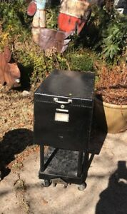 Vintage Remington Rand Collapsable Cabinet Rolling Industrial Black