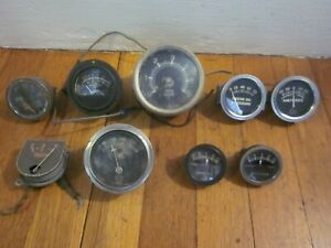 1928 31 Ford Model A Amperes Amp Meter Gauge X2 Us Oil Pressure Sun