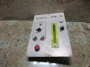 Shizuoka Millmaster An s Cnc Vertical Mill Spindle Control Operator Panel