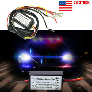 Drl Controller Auto Led Daytime Running Light Relay Harness Dimmer On Off 12 18v