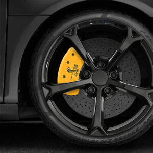 Yellow Mgp Caliper Covers W Gt500 Shelby Cobra For 2005 2014 Ford Mustang